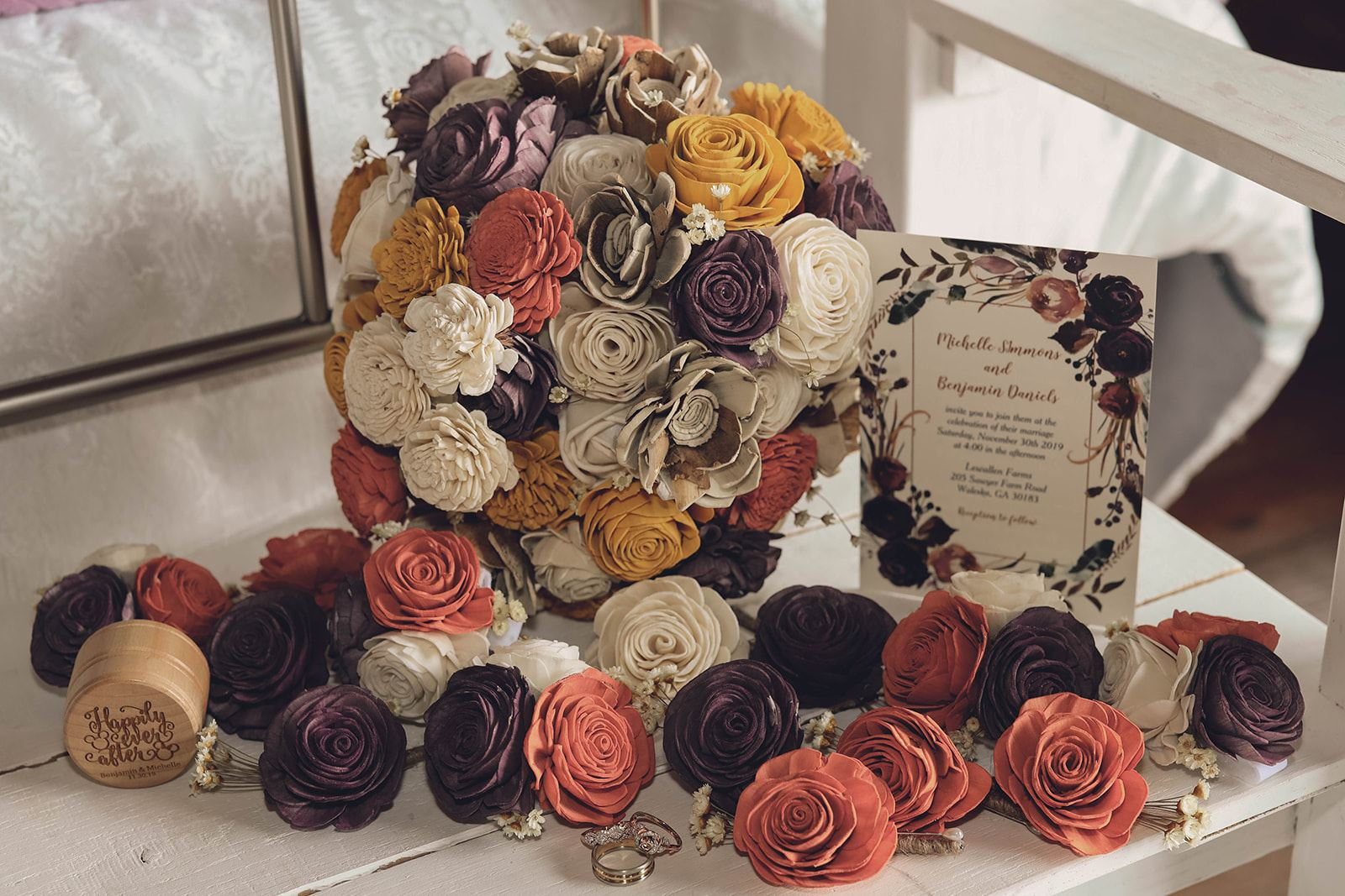 Wood Flowers, Wedding Decor, Wedding insperation