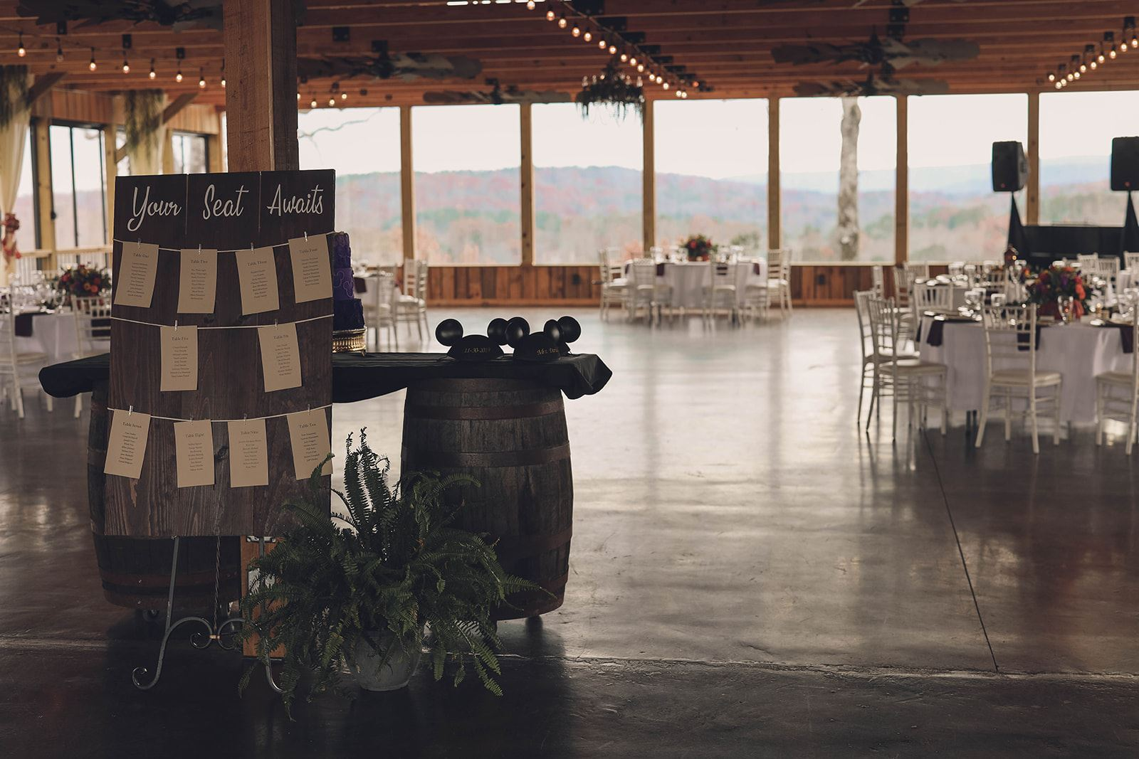 Lewallen Farms, Mountain Wedding, Wedding reception, Fall colors,