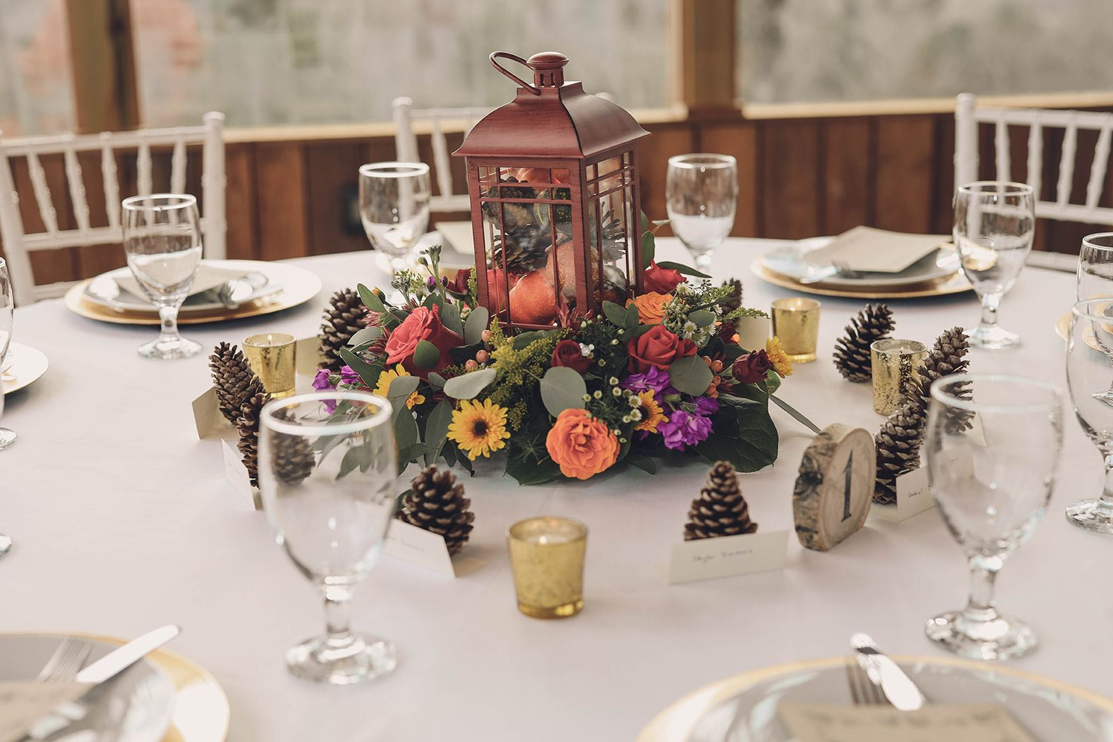 Lewallen Farms, wedding table decor, Table Numbers