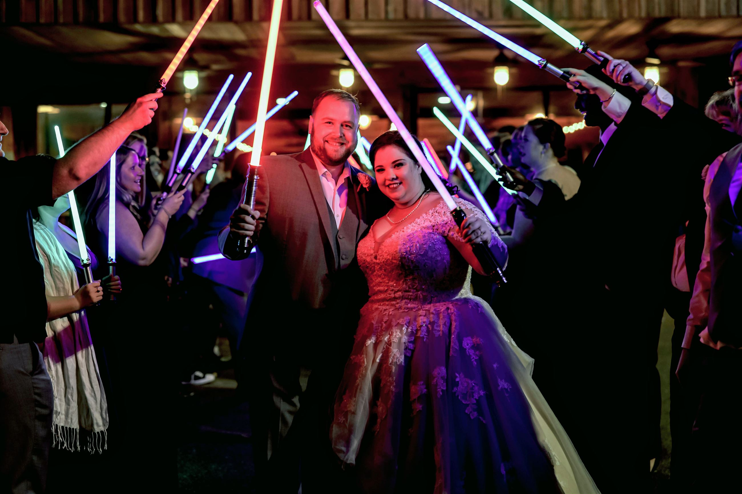 Light Sabor Exit, Disney Wedding, Star Wars Wedding,
