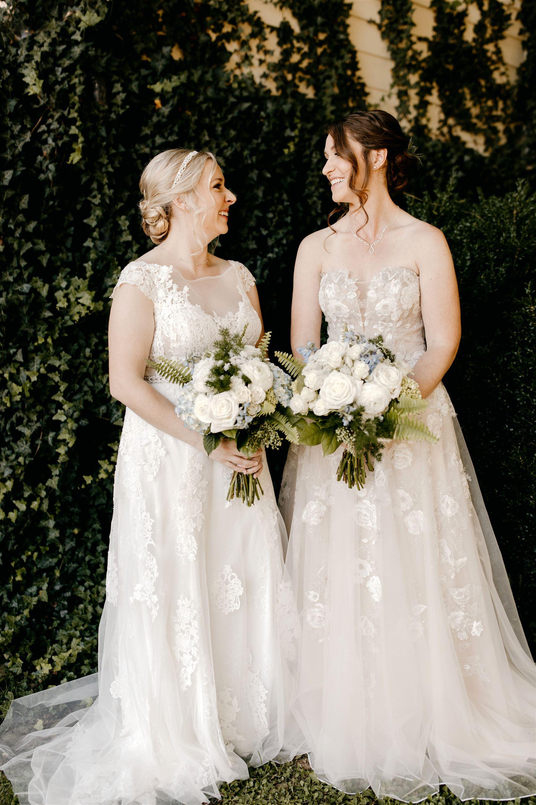 Same Sex Brides in Justin Alexander Gowns