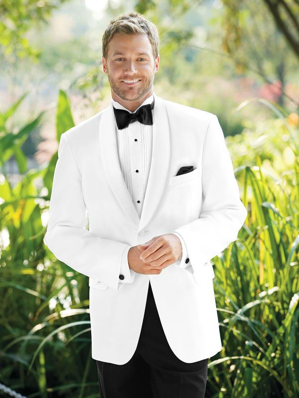 Jim's Formal Wear White Classic Shawl Tuxedo